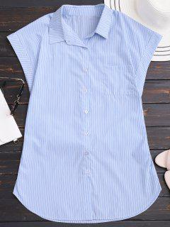 Striped Bowknot Mini Shirt Dress - Stripe S