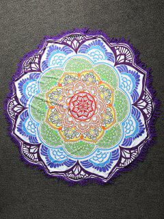 Fringed Mandala Lightweight Beach Throw - Multicolor