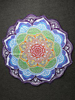 Pom Pom Mandala Lightweight Beach Throw - Multicolor
