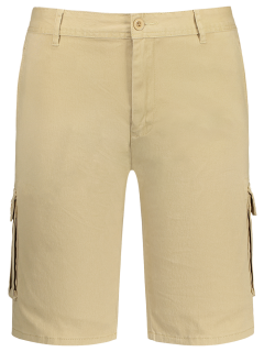 Multi Pockets Bermuda Cargo Shorts - Khaki 34