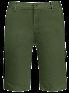 Multi Pockets Bermuda Cargo Shorts - Army Green 38