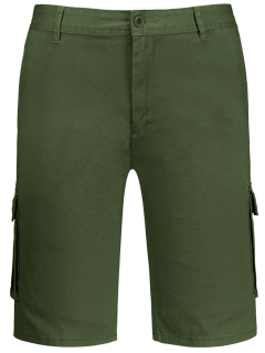 Multi Pockets Bermuda Cargo Shorts - Army Green 33