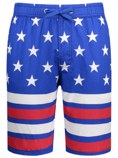 American Flag Board Shorts - Blue 2xl