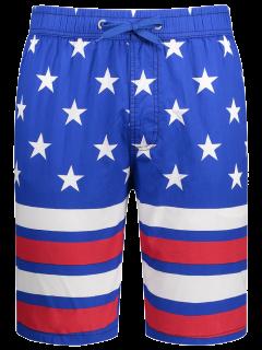 American Flag Board Shorts - Blue 3xl