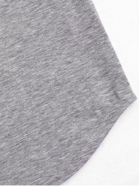 Haut épaule dénudée manches avec découpes - Gris S Mobile