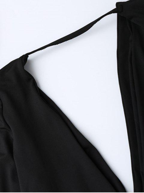 Maillot col plongeant manches fendues - Noir XL Mobile