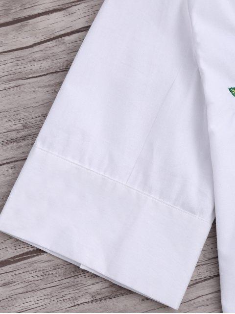 Top brodé floral rembourré - Blanc S Mobile