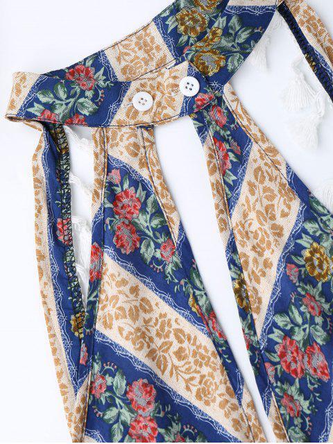 Combishorts bohémiens imprimé mixte avec découpe plongeante - Floral L Mobile