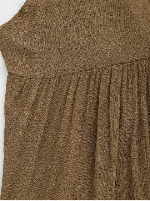 ladies Halter Tiered Beach Cover Up Dress - BROWN S Mobile