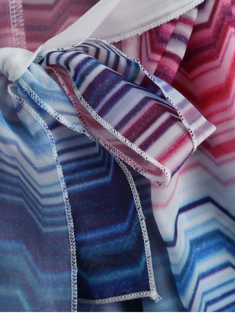 hot Striped Kimono Beach Cover Up - WHITE ONE SIZE Mobile