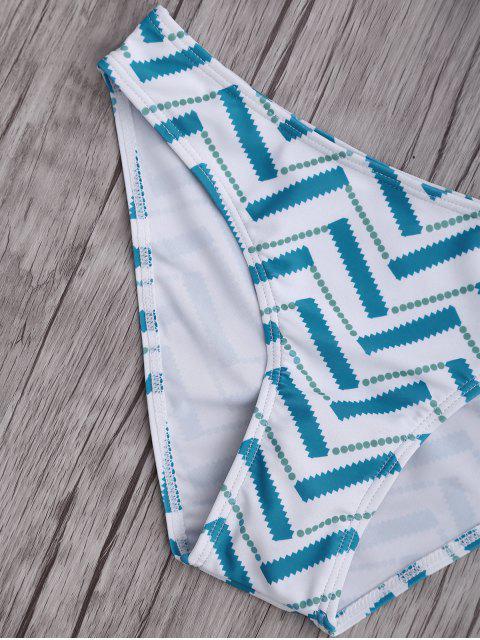 buy Bowknot Strapless Bikini Set - LIGHT BLUE M Mobile