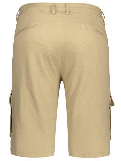 shorts avec multi poches aux bermudas du chargement - Kaki 33 Mobile