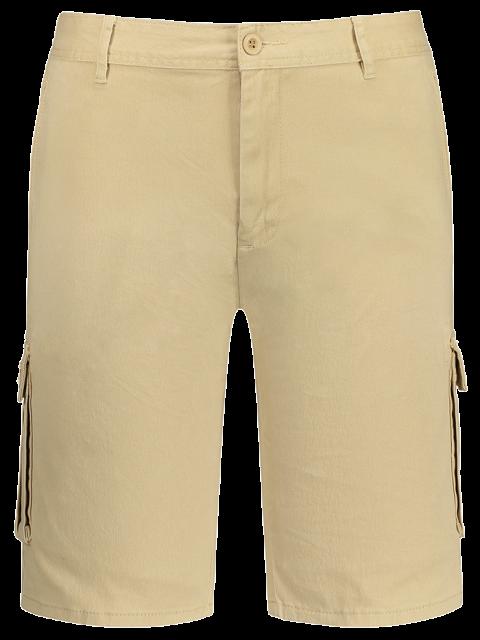 shorts avec multi poches aux bermudas du chargement - Kaki 35 Mobile