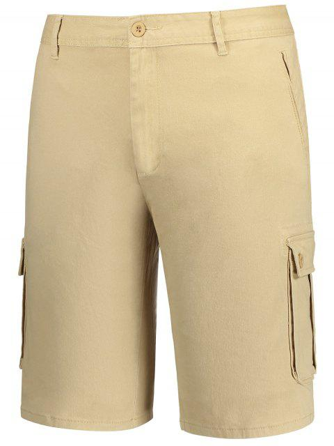 online Multi Pockets Bermuda Cargo Shorts - KHAKI 38 Mobile