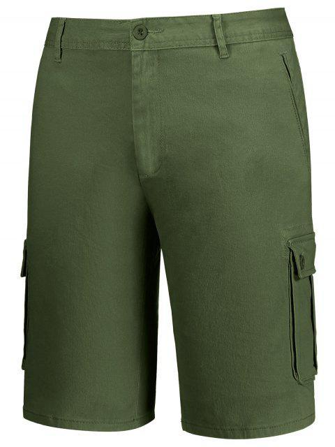 new Multi Pockets Bermuda Cargo Shorts - ARMY GREEN 38 Mobile