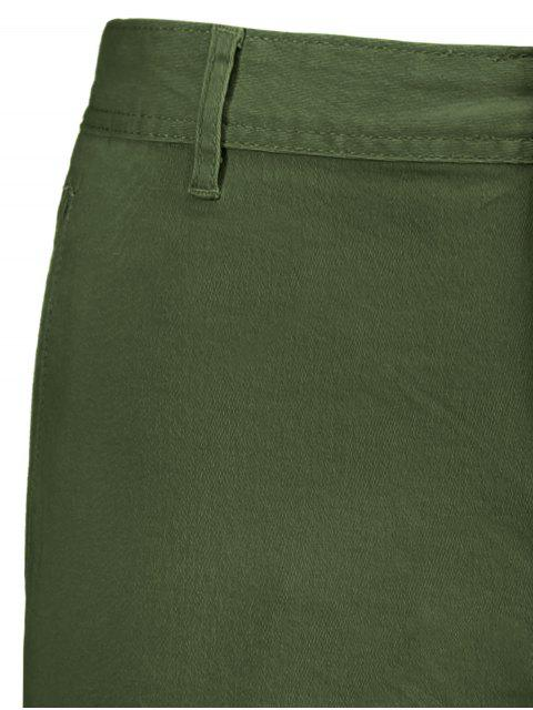 outfit Multi Pockets Bermuda Cargo Shorts - ARMY GREEN 36 Mobile