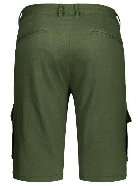 outfits Multi Pockets Bermuda Cargo Shorts - ARMY GREEN 33 Mobile