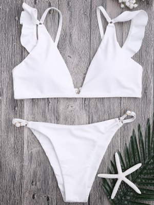 Ensemble De Bikini Réglable En Plongée - Blanc M
