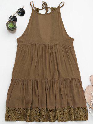Vestido Con Capucha De Playa Con Túnica - Marrón M