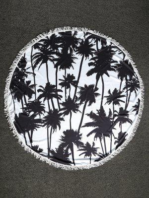 Palm Tree Round Beach Throw