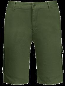 شورت بلا حمالة بمتعدد الجيوب - الجيش الأخضر 33