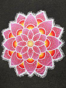 Serviette De Plage Légère Imprimée Mandala - Rouge