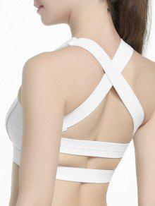كريسس الصليب مبطن الرياضة الصدرية - أبيض S