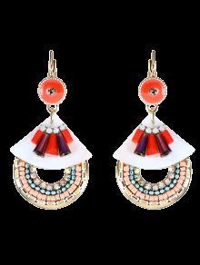 Faux Pendientes De Imitación De Perlas De Turquesa Pendientes - Rojo