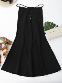 Open Back Strappy Shift Dress - Black Xl