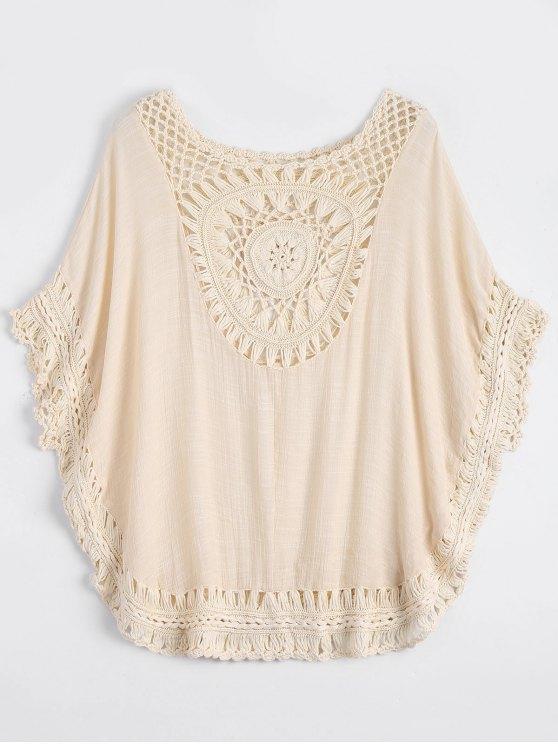 Cache maillot cape de plage inséré crochet - Blanc Cassé TAILLE MOYENNE