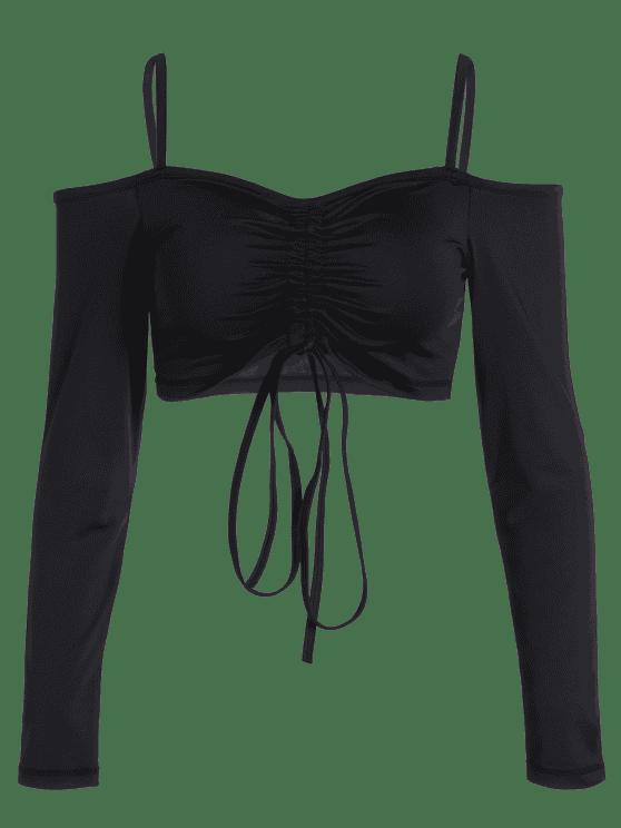 Haut court sportif plissé à bretelle - Noir M