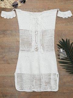Robe Cache Haut Tricoté Et à Epaules Dénudées  - Blanc