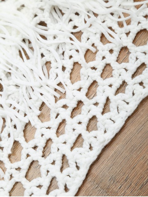 shops Crochet Off The Shoulder Cover Up Top - WHITE ONE SIZE Mobile