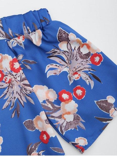 hot Floral Cold Shoulder Shift Mini Dress - FLORAL L Mobile