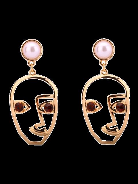 Boucles d'oreilles embellies perles artificielles de strass - Café  Mobile