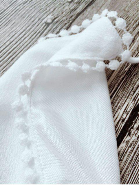 Combishort de Plage Halter Couverture Plongeant - Blanc L Mobile