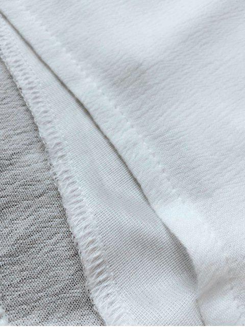Combishort de Plage Halter Couverture Plongeant - Blanc S Mobile