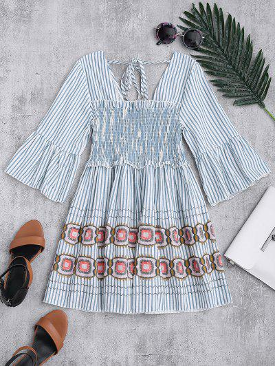 Striped Smocked Babydoll Top