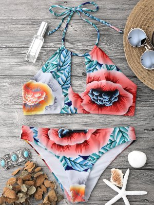 Top De Bikiní Y Parte Inferior De Bikini - Multicolor L