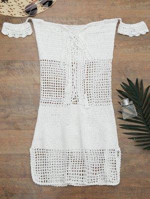 Öffnen Strick Schulter Cover-Up Kleid