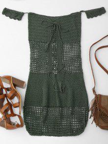 مفتوحة متماسكة قبالة الكتف التستر اللباس - مسود الخضراء
