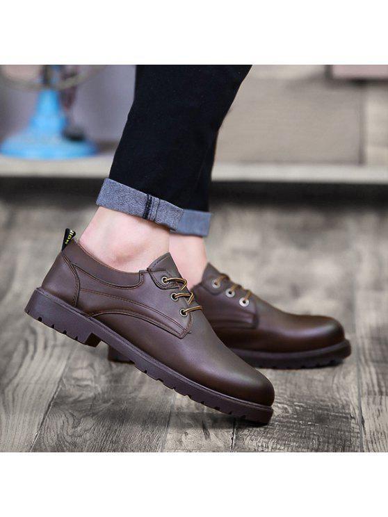 أحذية مريحة بجلد اصطناعي دائرة اصبع القدم - ديب براون 40