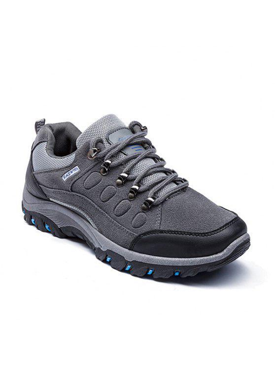 أحذية رياضية كتلة اللون سويدي اصطناعي - رمادي 40