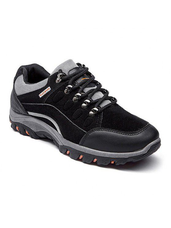 أحذية رياضية كتلة اللون سويدي اصطناعي - أسود 44