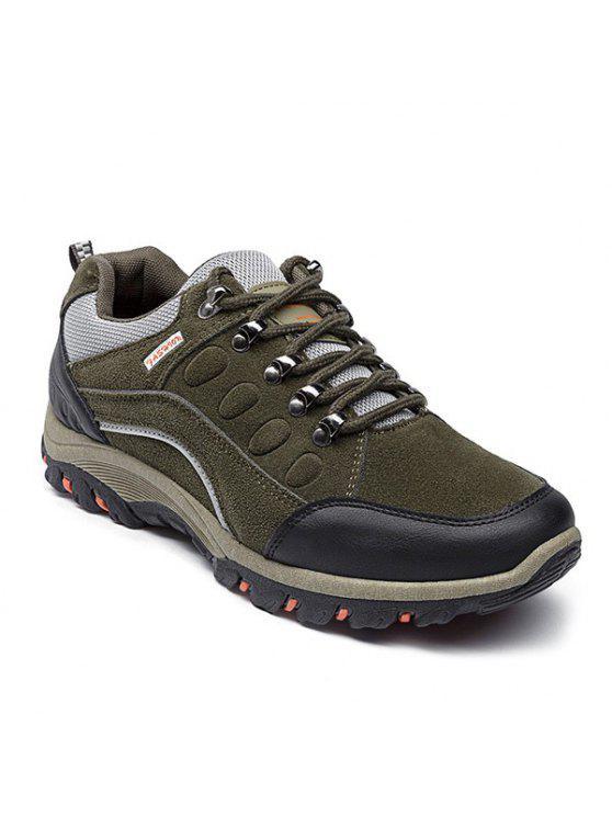 أحذية رياضية كتلة اللون سويدي اصطناعي - الجيش الأخضر 42