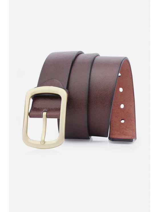 الرجعية دبوس مشبك حزام جلد الاصطناعي - قهوة