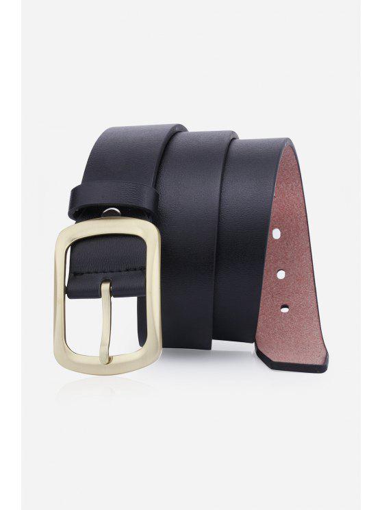 الرجعية دبوس مشبك حزام جلد الاصطناعي - أسود