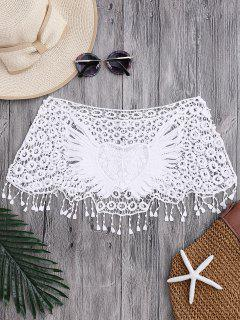 Tube Heart Crochet Tube Cover Up Top - White