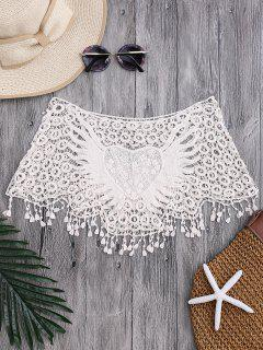 Tube Heart Crochet Tube Cover Up Top - Off-white
