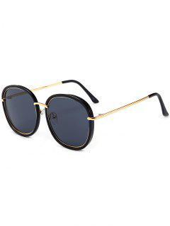 UV Protaction Metallic Inlay Sunglasses - Black Grey